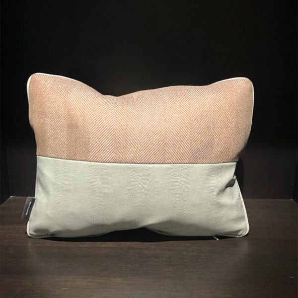 Block Stitched Pillow 1 - Interiology Design Co.