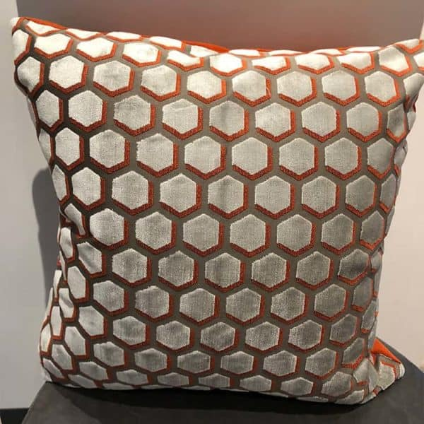 Geometric Cut Velvet Pillow 1 - Interiology Design Co.