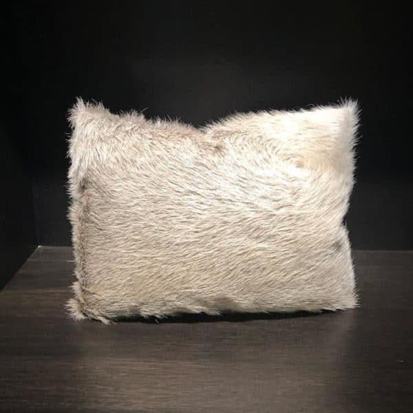 Hair-On-Hide Pillow with Velour 1 - Interiology Design Co.