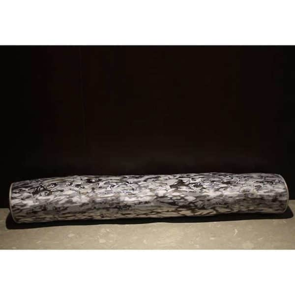 Marbleized Velvet Neckroll 1 - Interiology Design Co.