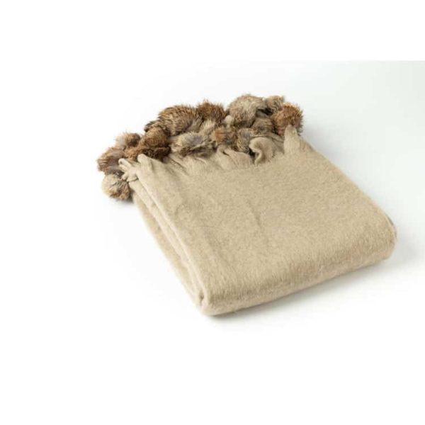 Mohair Pom Pom Blanket 1 - Interiology Design Co.