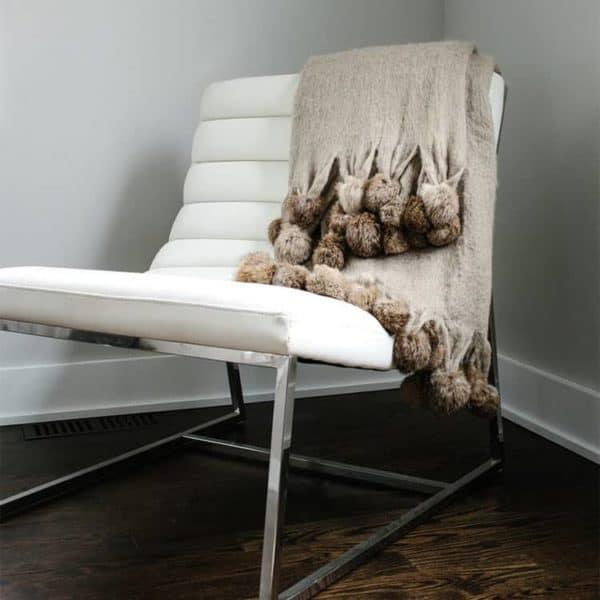 Mohair Pom Pom Blanket 3 - Interiology Design Co.
