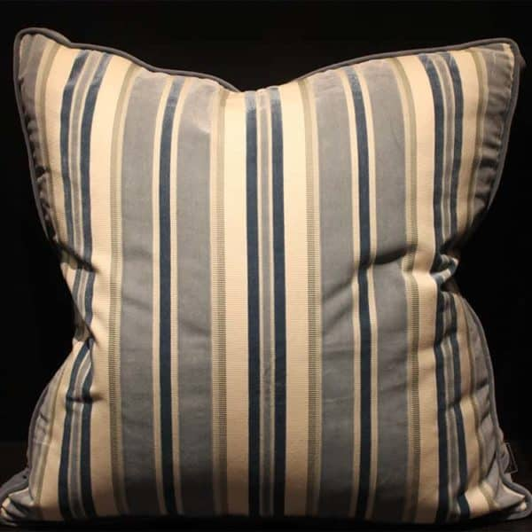Striped Cut Velvet Pillow 1 - Interiology Design Co.