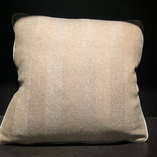 Wool Herringbone Pillow 1 - Interiology Design Co.