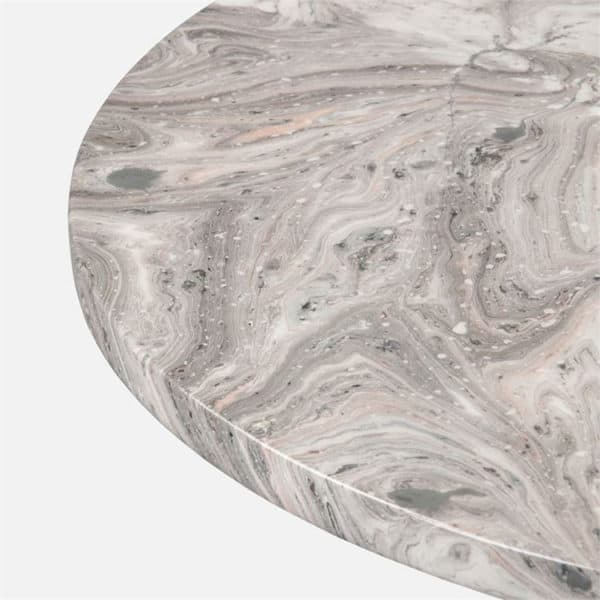 Giovanni Side Table - Gray Swirl 2 - Interiology Design Co.