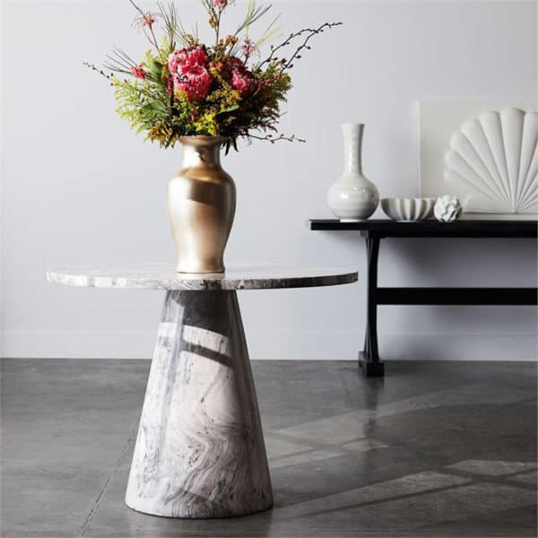 Giovanni Side Table - Gray Swirl 3 - Interiology Design Co.