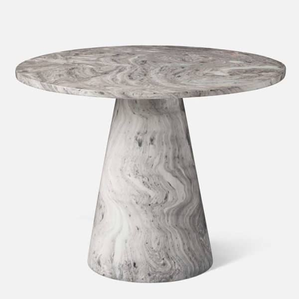 Giovanni Side Table - Gray Swirl 1 - Interiology Design Co.