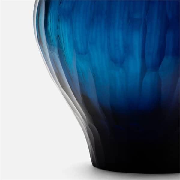 Santiago Ocean Blue Glass Vase 2 - Interiology Design Co.