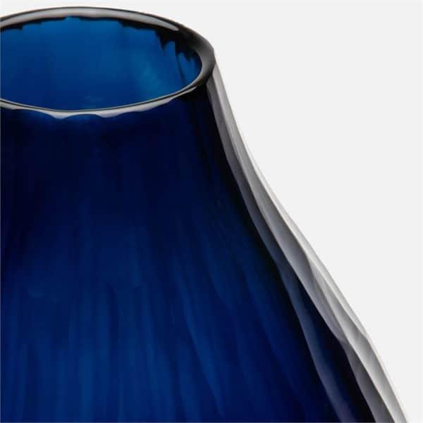 Santiago Ocean Blue Glass Vase 3 - Interiology Design Co.