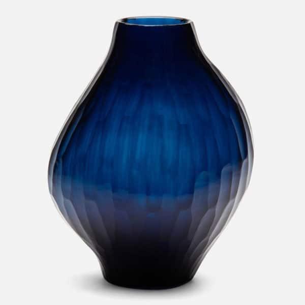 Santiago Ocean Blue Glass Vase 1 - Interiology Design Co.